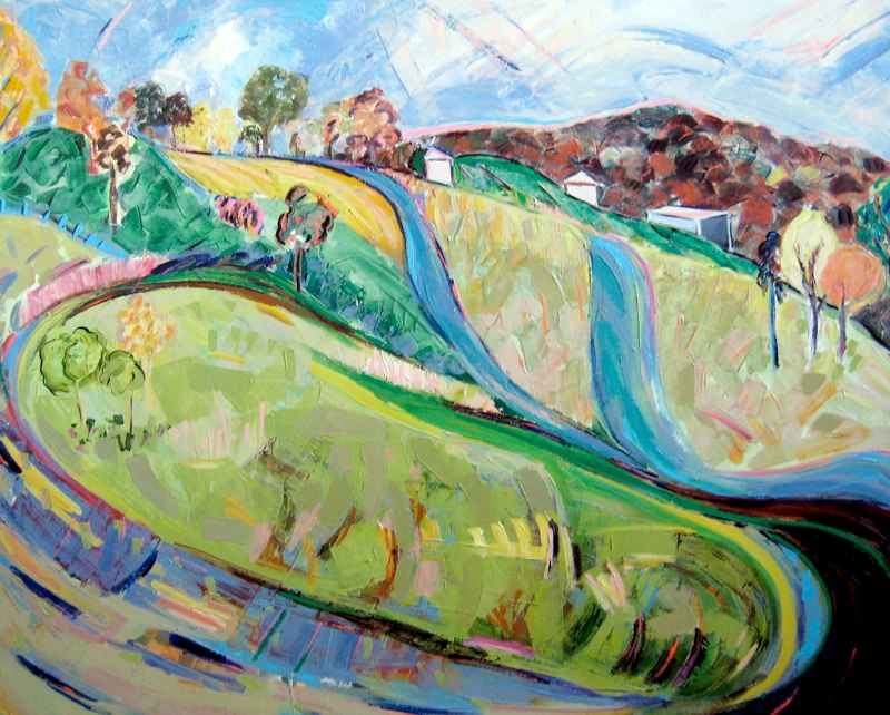Nan Hass Feldman acrylic painting of a