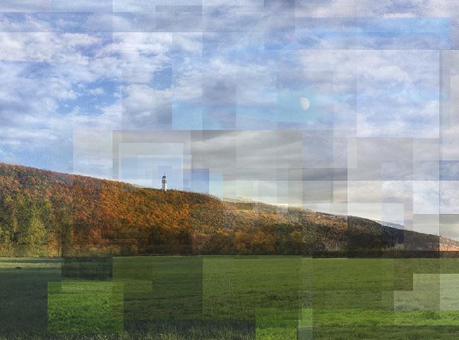 William Van Beckum compilation of photos of Heublein Tower from Talcott Mountain state Park