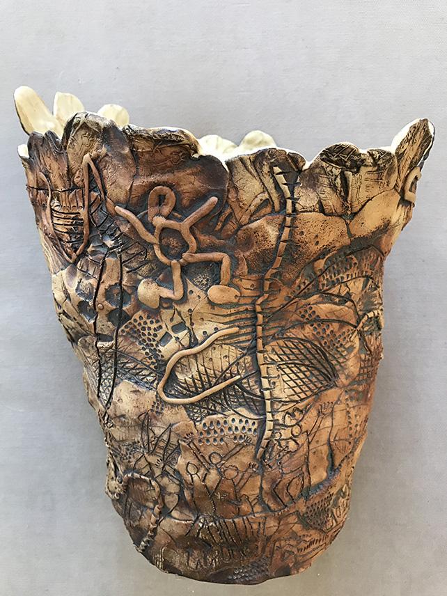Susan Bazett Ceramic Painting Pot