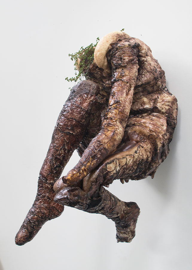 Christine Sopata mold of distorted limbs and trunks of the body, creating a pose that echoes an eternal battle