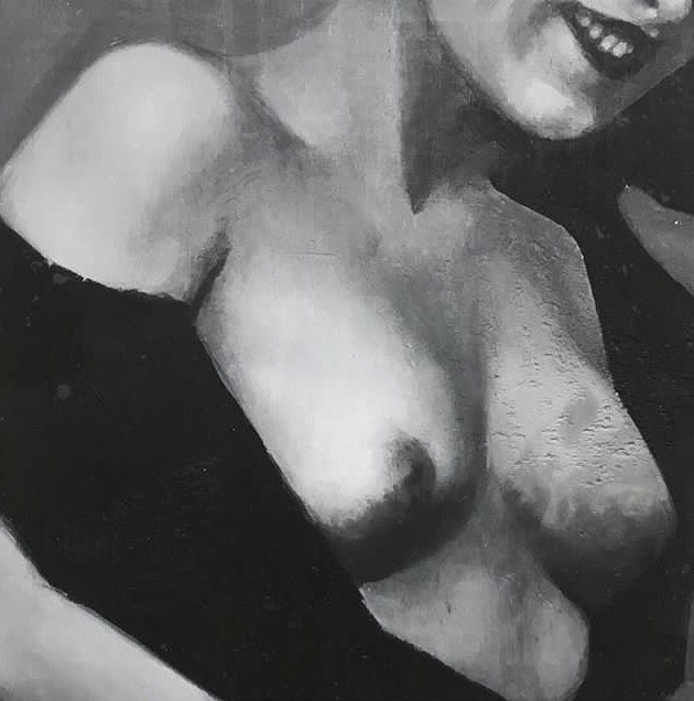 Shailin Messer painting of a shirtless woman smiling