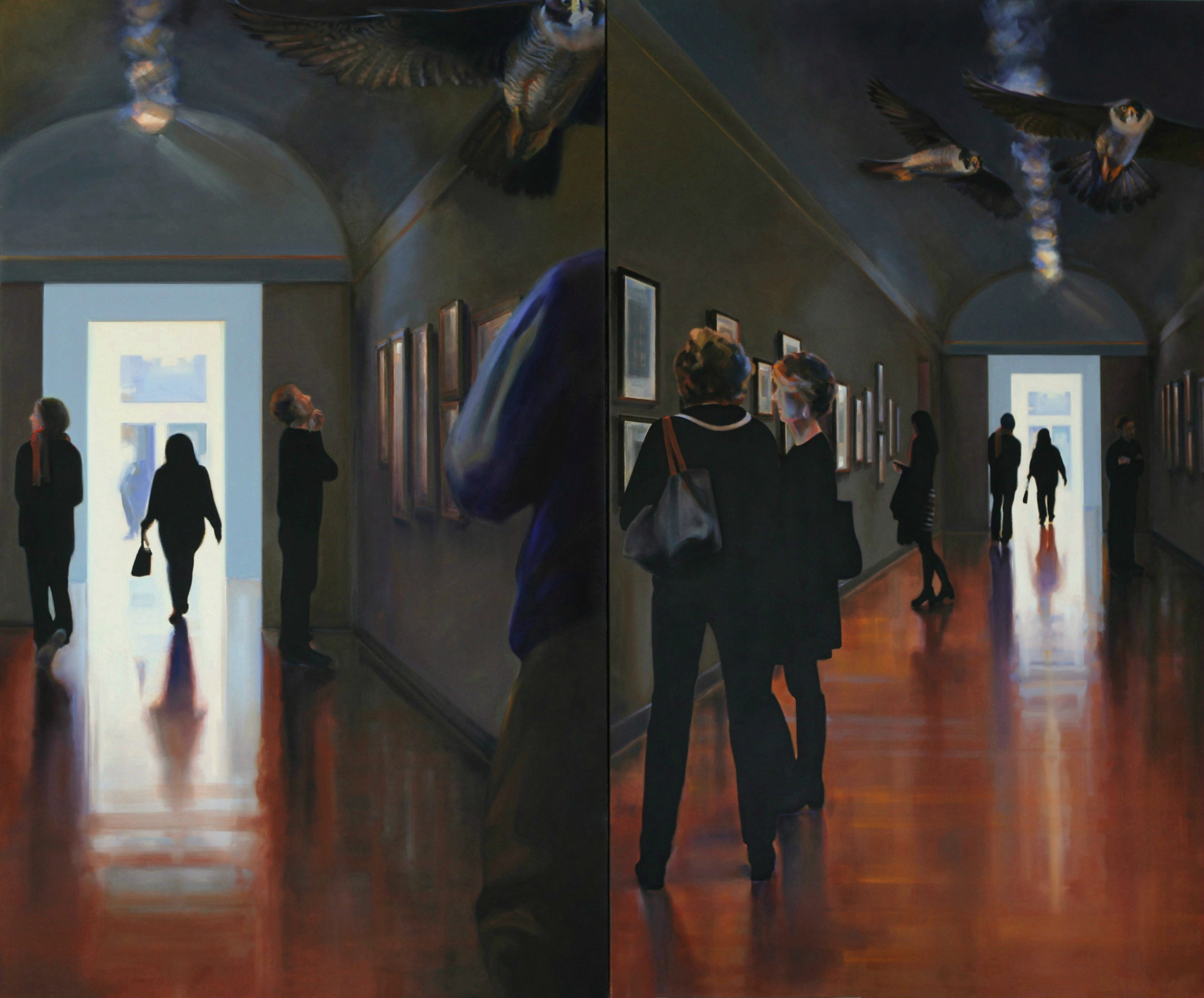 Susan White Brown's oil and canvas work inspired by the cultural history presented in the Museum of Fine Arts, Boston.