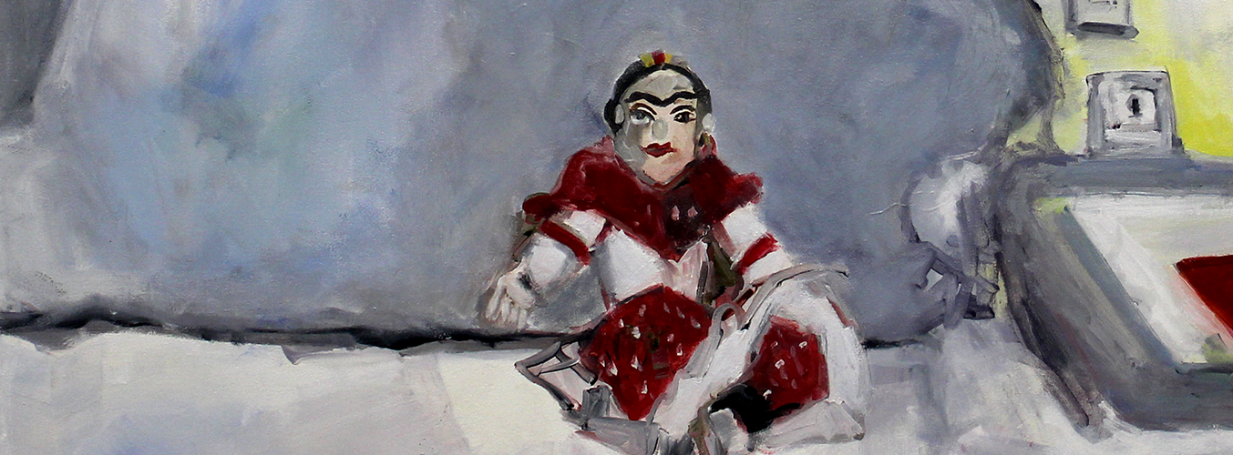 Lisa McCarthy painting of a closeup of a person