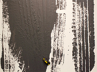 Lisa McCarthy painting inspired by industrial machinery and the environment